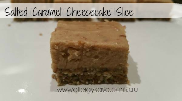 Salted Caramel Cheesecake Slice