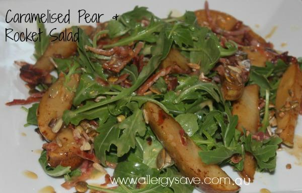 Caramelised Pear & Rocket Salad