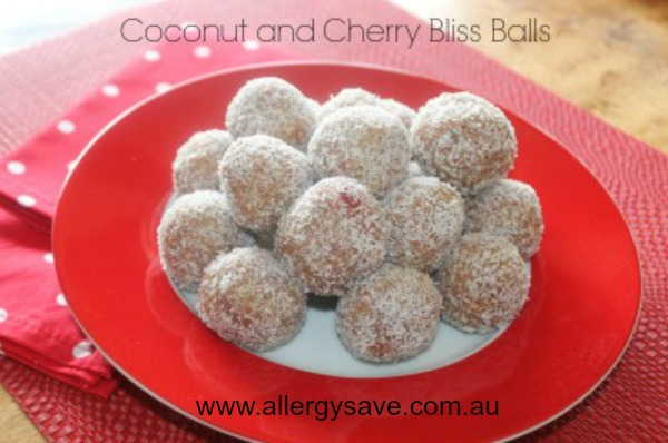 Coconut and Cherry Bliss Balls